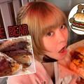 【飯テロにつき閲覧注意】驚異のボリューム! 小顔効果抜群なハンバーガーにかぶりつけ!